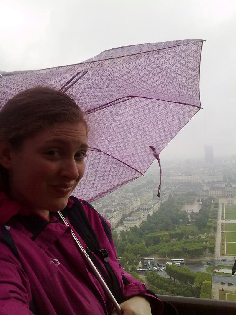 Eiffeltoren Parijs regen