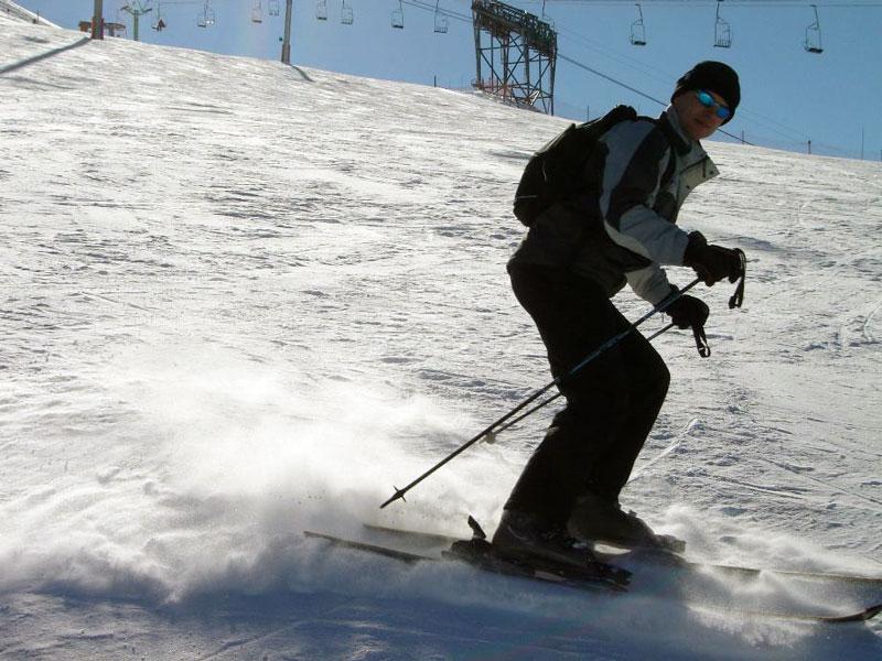 Les Deux Alpes op de ski's