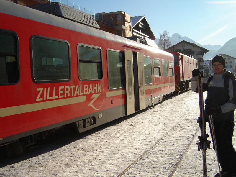Trein van Mayrhofen naar Zell am Ziller