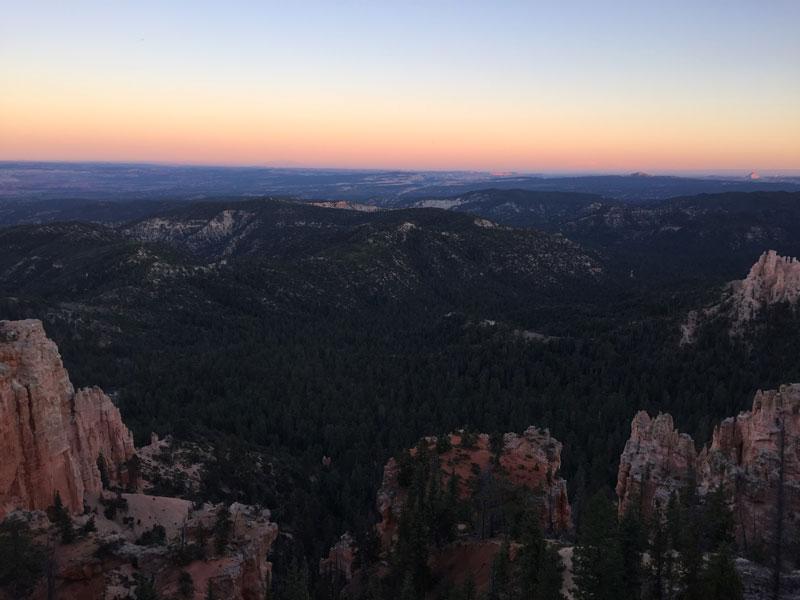 Bryce Canyon 's avonds