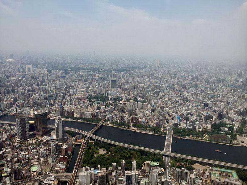 Uitzicht vanaf Tokyo Sky Tower