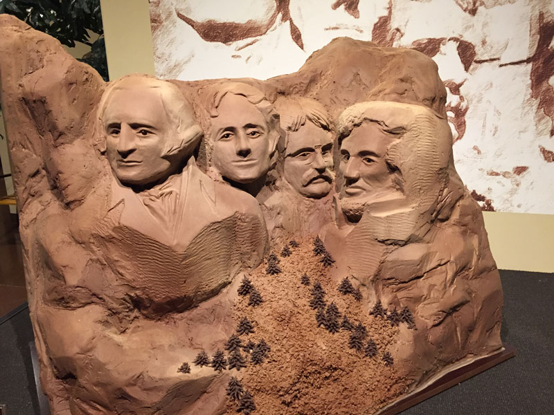 Chocolade museum Mt. rushmore in chocolade