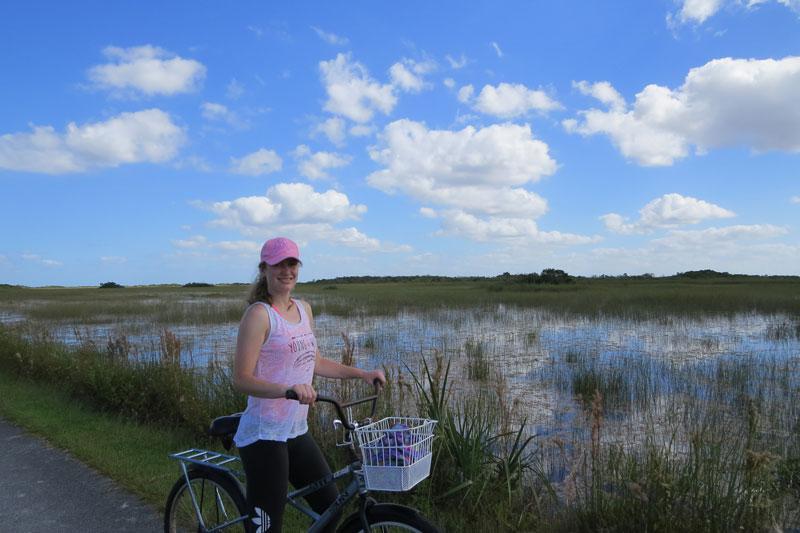 Fietsen door de natuur van The Everglades