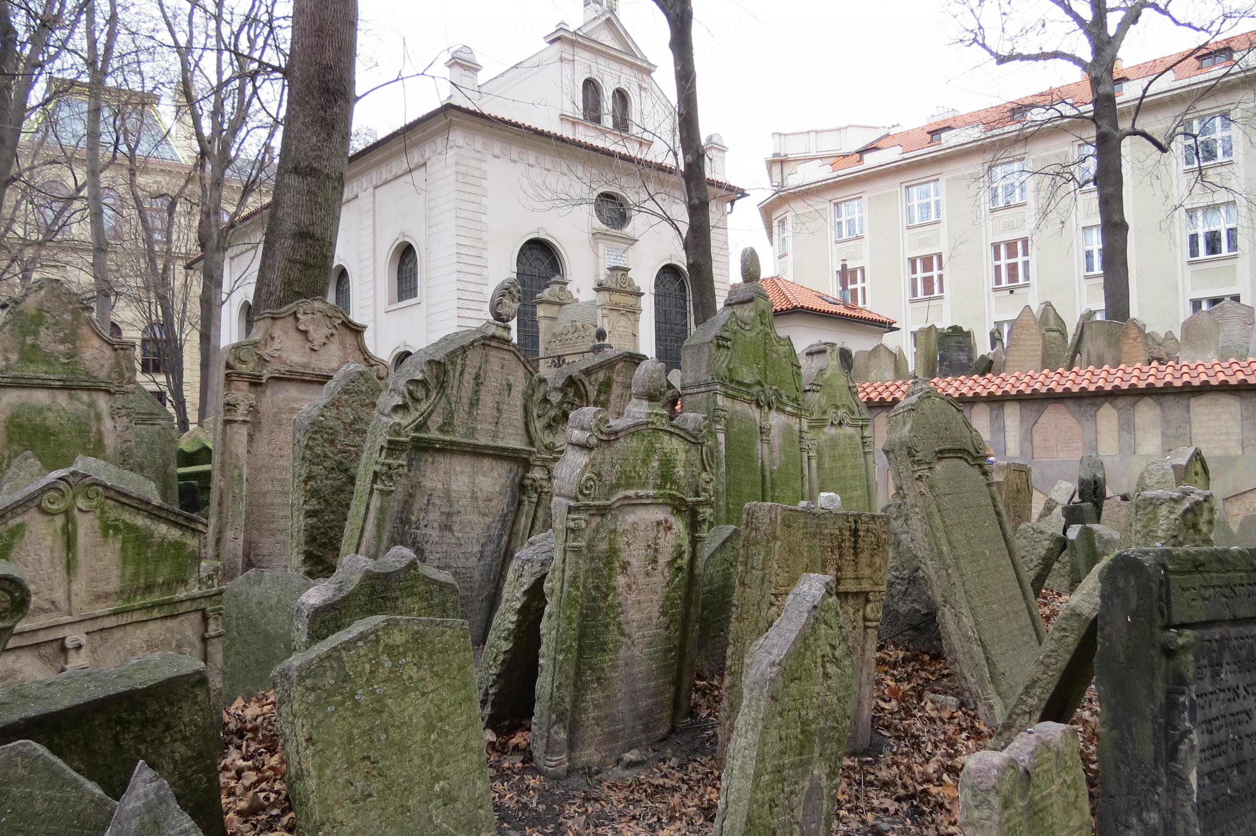 Banner Joodse wijk Praag