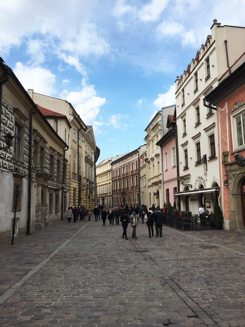 Straatje in Krakau