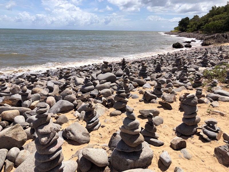 Captain Cook Highway pebbles