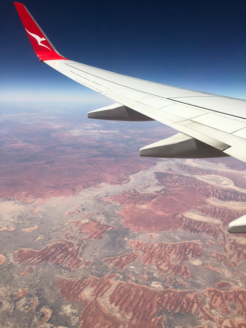 Vliegen naar Australië.