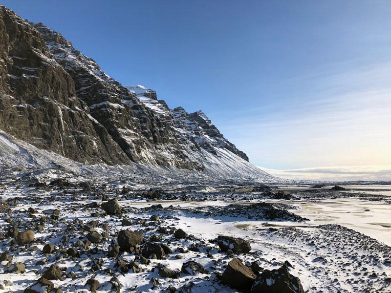 Gletsjer hike landschap