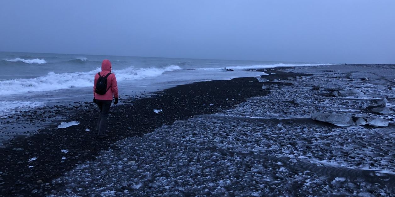 Zwarte stranden in IJsland.
