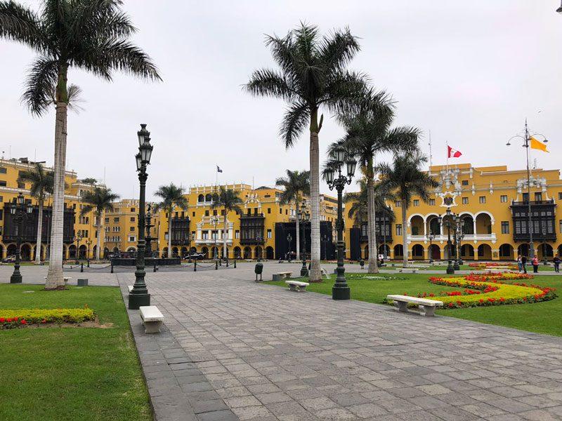 Plaza de Armas Lima Peru.