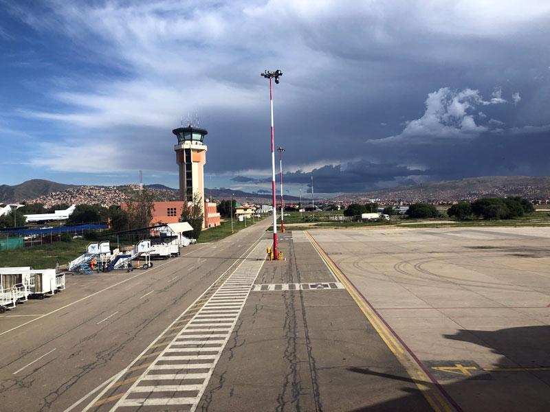 Cochabamba vliegveld Bolivia.