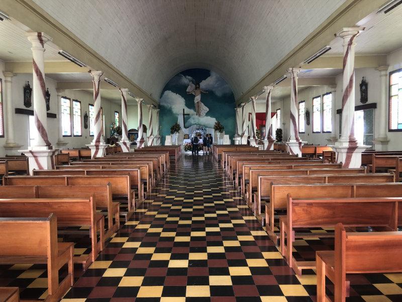 Kerk in La Fortuna, Costa Rica.