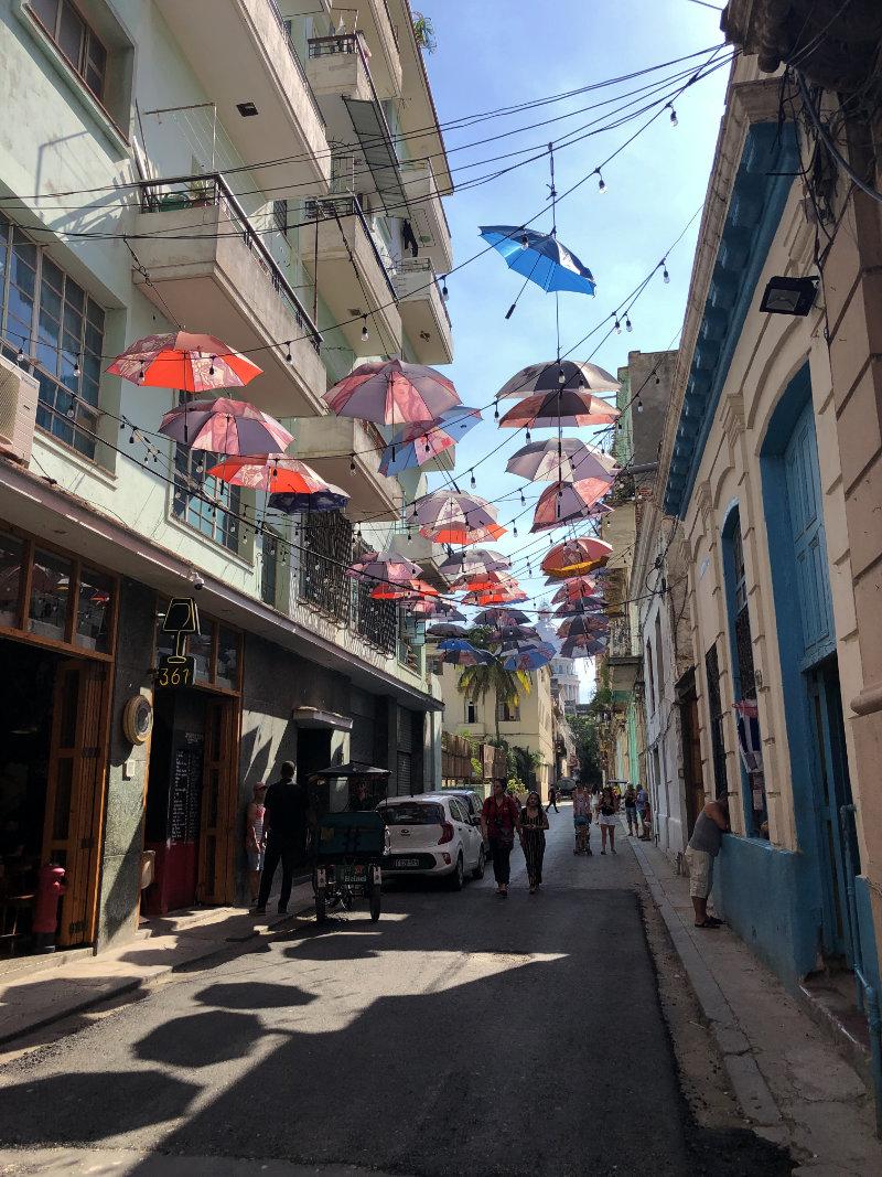 Straat in Havana Cuba.