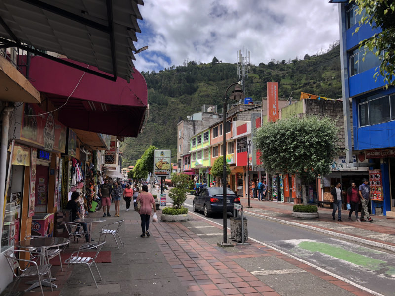 Banos de Agua Santa, Ecuador.