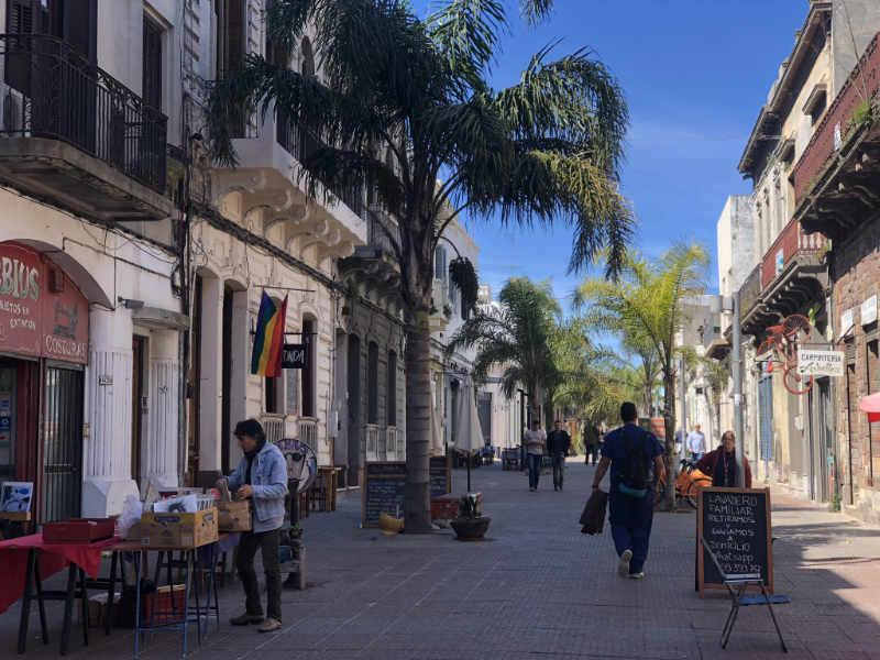 Winkelstraat in Montevideo, Uruguay.