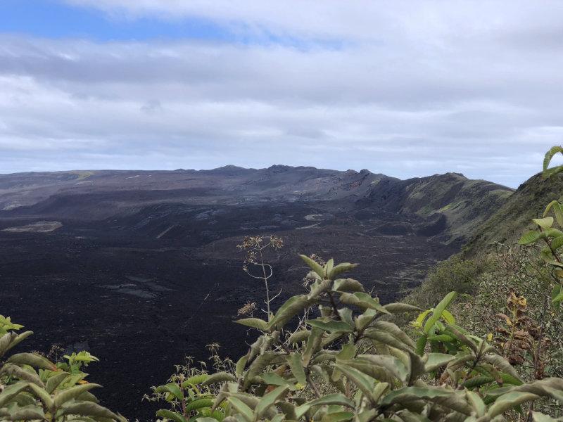 Sierra Negra vulkaan op Isabela eiland, Galapagos.