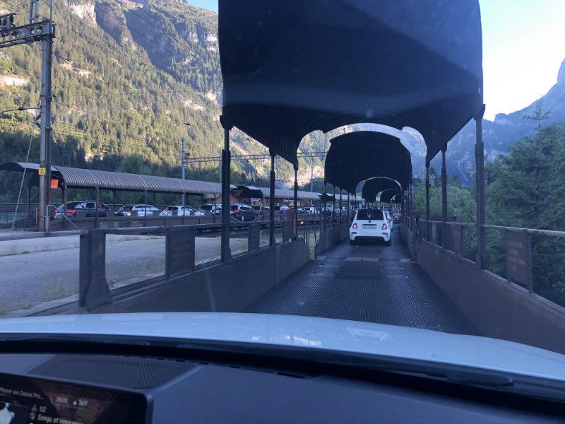 Autotrein in Zwitserland.