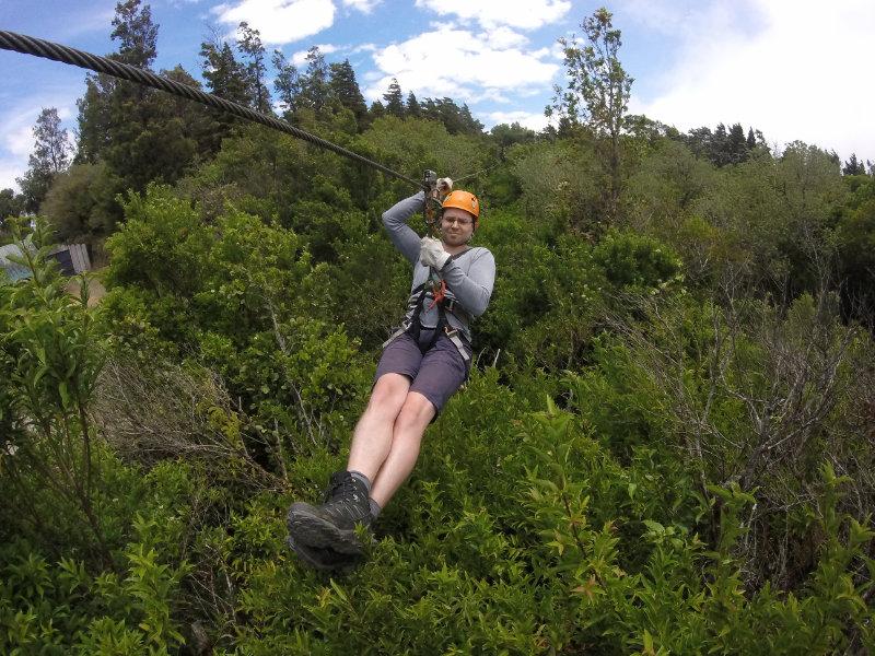 Ziplinen in Monteverde Costa Rica.